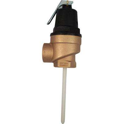 1 in. Brass Female Inlet FVX-5L Commercial Temperature and Pressure Relief Valve