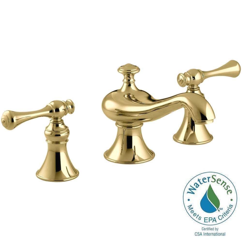 Kohler Revival 8 In Widespread 2 Handle Low Arc Water Saving Bathroom Faucet In Vibrant