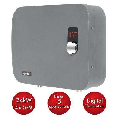 ThermoPro 24 kW / 240-Volt 4.6 GPM Stainless Steel Electric Tankless Water Heater with Self-Modulating Technology