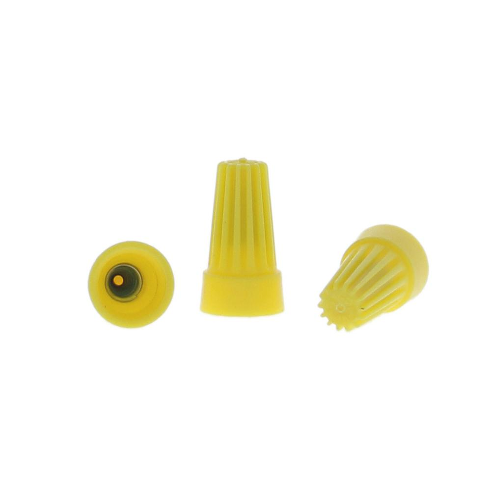 Ideal 74b yellow wire nut wire connectors 100 pack 30 074p the wire connectors yellow 25 pack greentooth Image collections