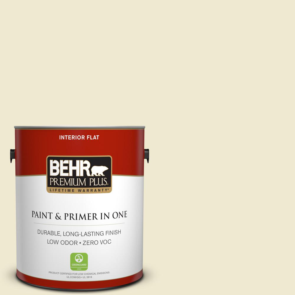 BEHR Premium Plus 1-gal. #M340-2 Floating Lily Flat Interior Paint