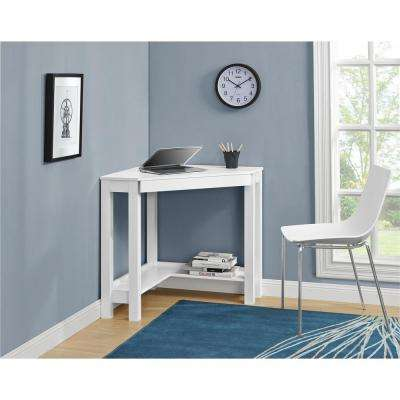 Parsons Corner Desk in White