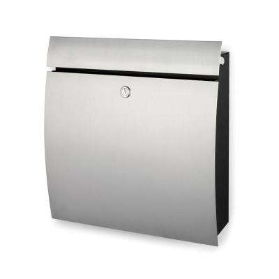 Signo Brushed Stainless Steel Wall Mounted Locked Mailbox