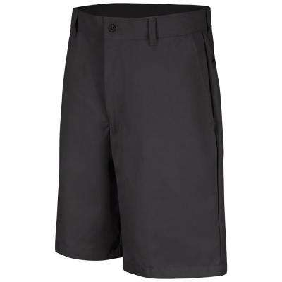 Men's Size 28 in. x 10 in. Black Plain Front Short