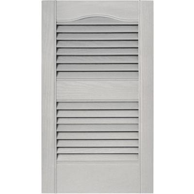 15 in. x 25 in. Louvered Vinyl Exterior Shutters Pair in #030 Paintable