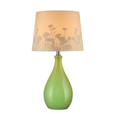 22 in. Green Table Lamp