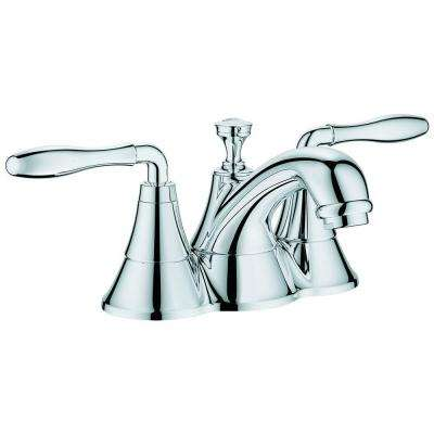 Seabury 4 in. Centerset 2-Handle Bathroom Faucet in StarLight Chrome