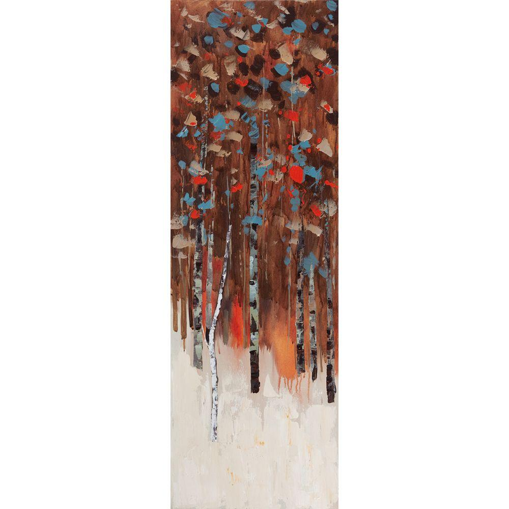 Yosemite Home Decor 12 in. x 35 in. Shades Of Fall III Hand Painted Contemporary Artwork - DISCONTINUED