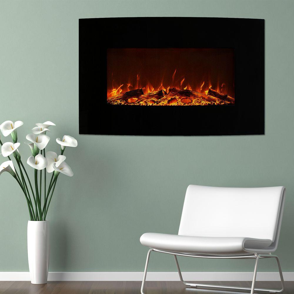 Northwest 36 in. Curved Color Changing Electric Fireplace...