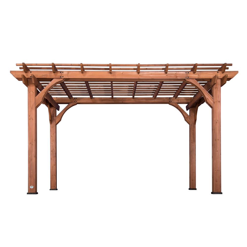 Backyard Discovery 10 ft. x 14 ft. Cedar Pergola ...