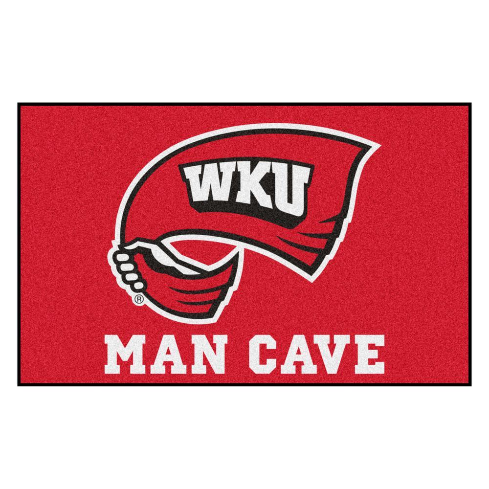 NCAA - Western Kentucky University 5 ft. x 8 ft. Man Cave UltiMat Indoor Area Rug