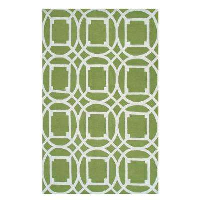 Telescope Green 5 ft. x 8 ft. Indoor Area Rug