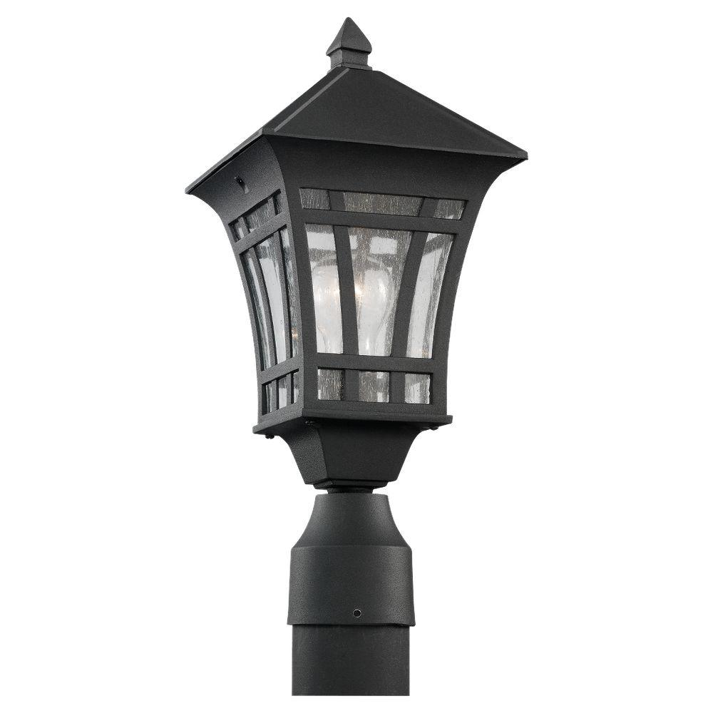 Sea Gull Lighting Herrington 1 Light Outdoor Black Post Top