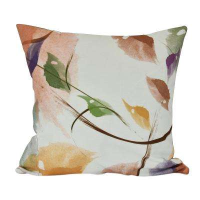 26 in. Windy Floral Print Decorative Pillow