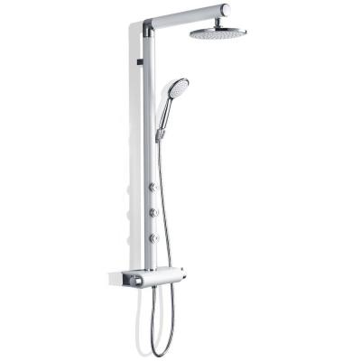 48 in. 5-jet Shower System with Hand-Shower and Thermostatic Valve in Aluminium Alloy