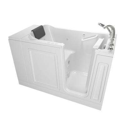 Acrylic Luxury 48 in. x 28 in. Right Hand Walk-In Whirlpool and Air Bathtub in White