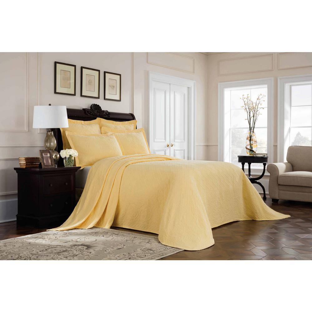Williamsburg Richmond Yellow Queen Bedspread