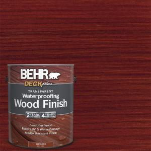 Behr Deckplus 1 Gal Redwood Transparent Waterproofing