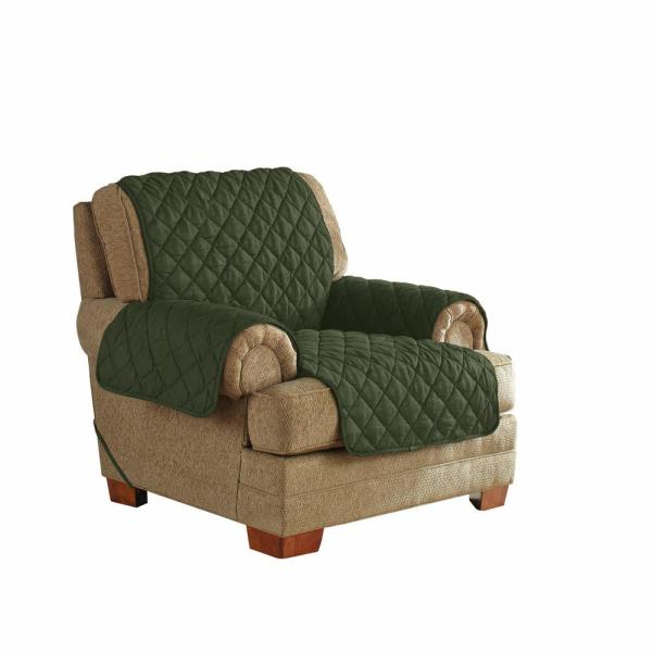 Serta Moss Green Ultimate Waterproof Furniture Protector Treated with NeverWet Chair