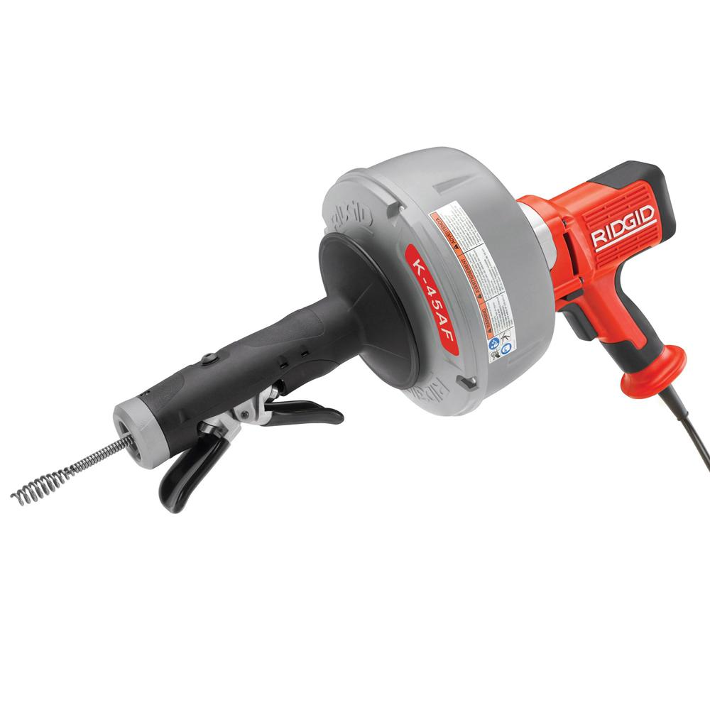 ridgid 115 volt k 45af 5 autofeed drain cleaning machine with c 1 5store so sku 1001565014