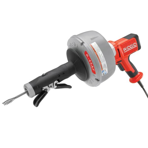 115-Volt K-45AF-5 Autofeed Drain Cleaning Machine with C-1 5/16 in. Inner Core Cable with Tool Set (5-Piece)