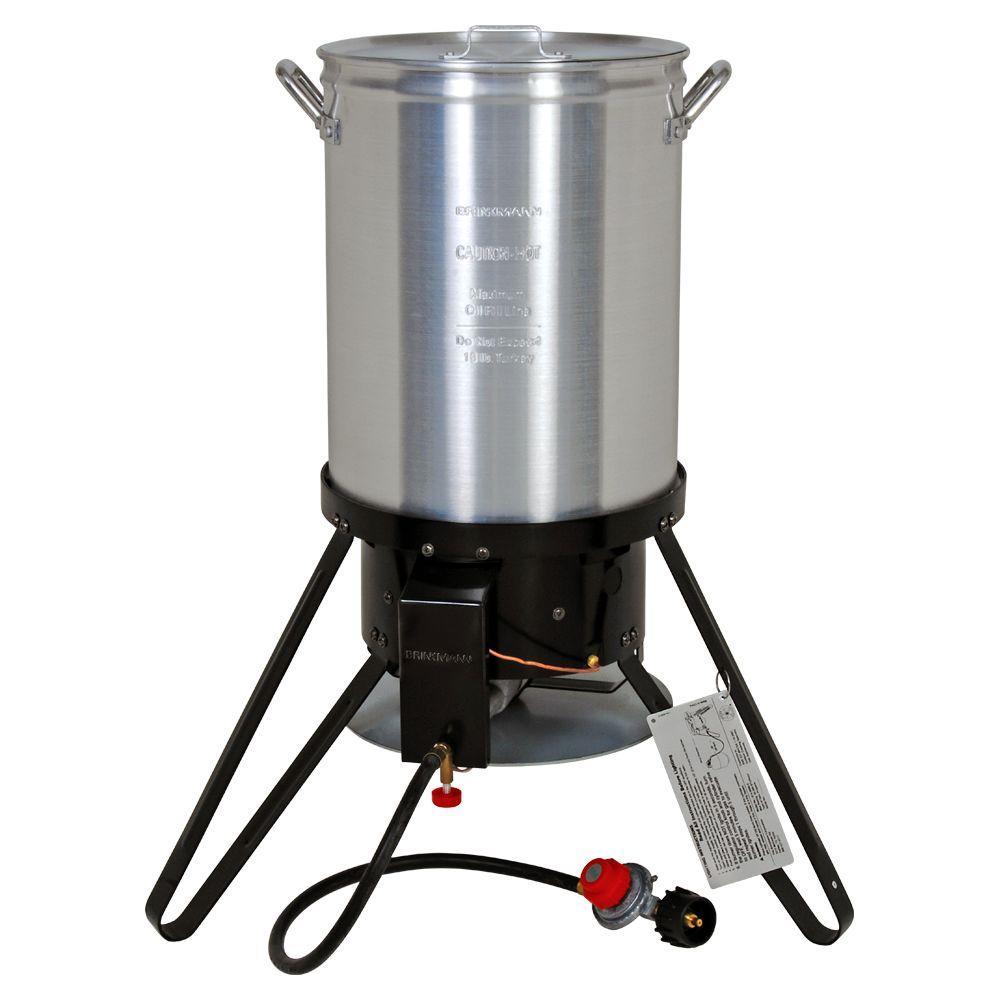 Brinkmann 45,000 BTU Propane Gas Outdoor Turkey Fryer with 30 qt. Pot