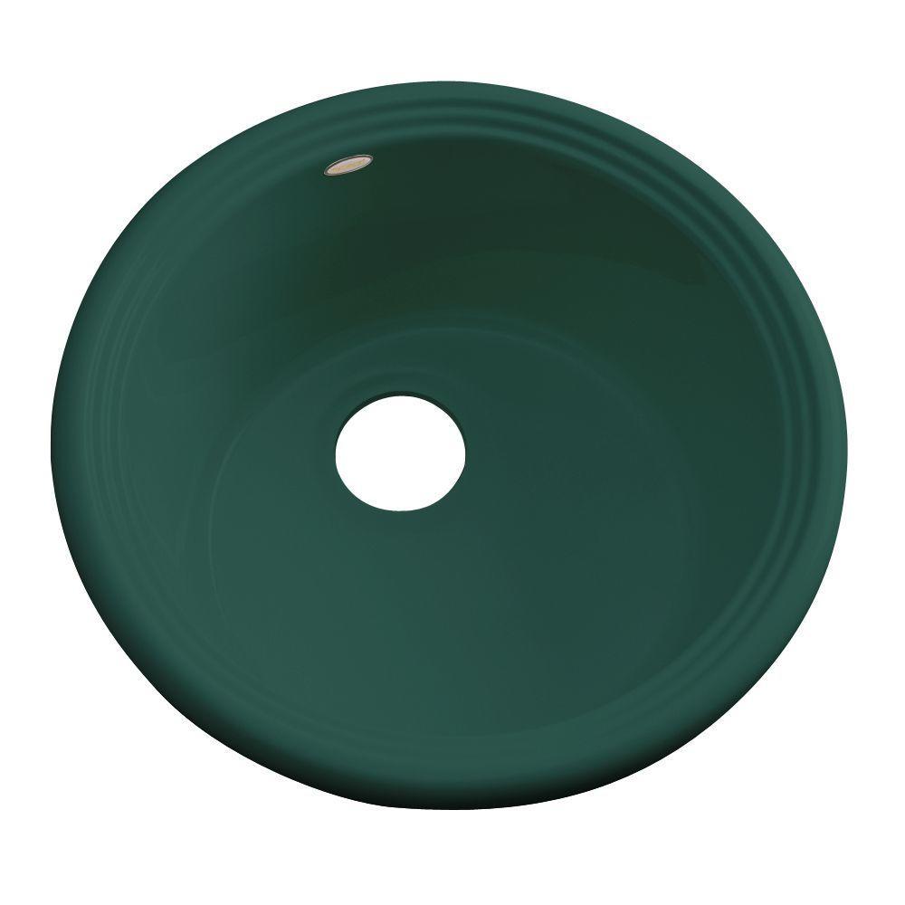 Hampton Drop-In Acrylic 18 in. Single Bowl Entertainment Sink in Rain Forest