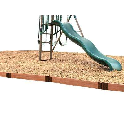 1 in. Series 16 ft. Classic Sienna Straight Composite Playground Border Kit