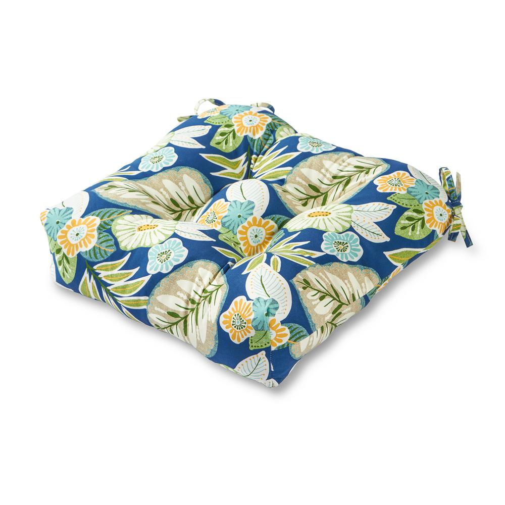 Greendale Home Fashions Marlow Floral Square Tufted Outdoor Seat Cushion