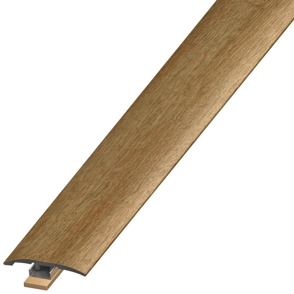 Home Decorators Collection Natural Oak 7 mm Thick x 2 in. Wide x 94 in. Length Coordinating Vinyl 3-in-1 Molding