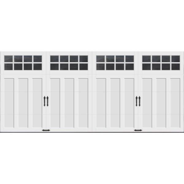 Coachman Collection 16 ft. x 7 ft. 18.4 R-Value Intellicore Insulated White Garage Door with SQ24 Window
