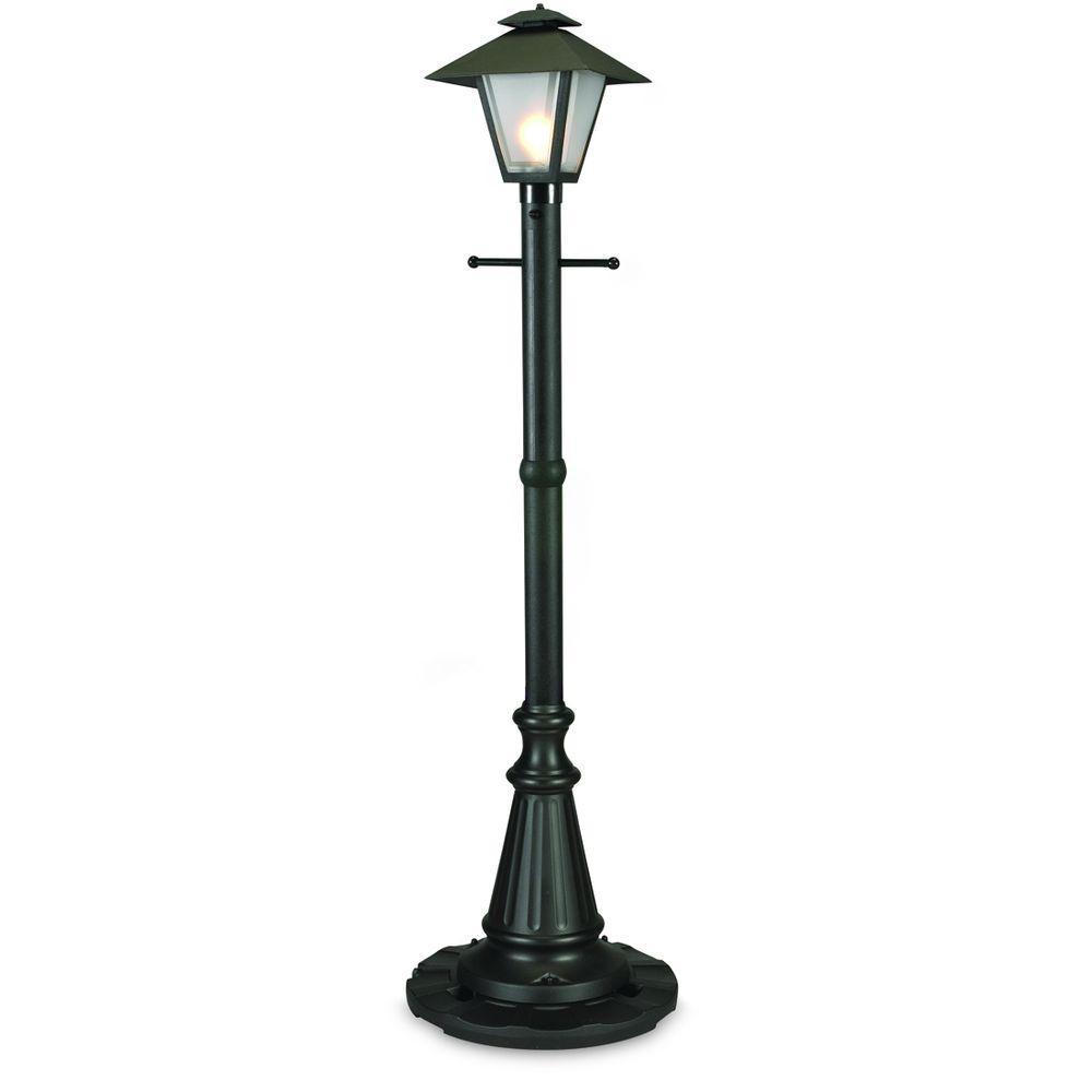 Cape Cod Black Outdoor Plug-In Post Lantern Patio