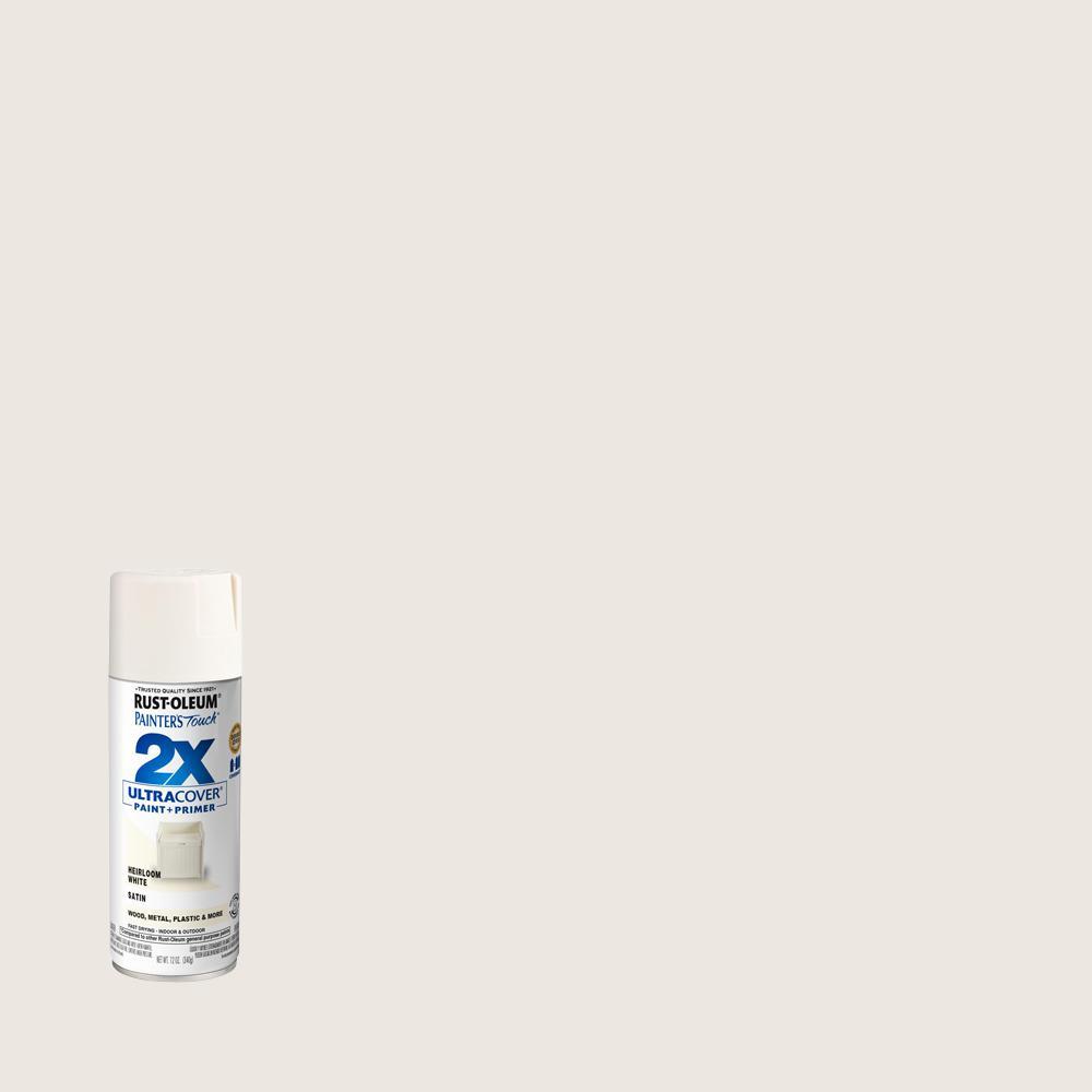 Rust-Oleum Painter's Touch 2X 12 oz. Satin Heirloom White General Purpose Spray Paint