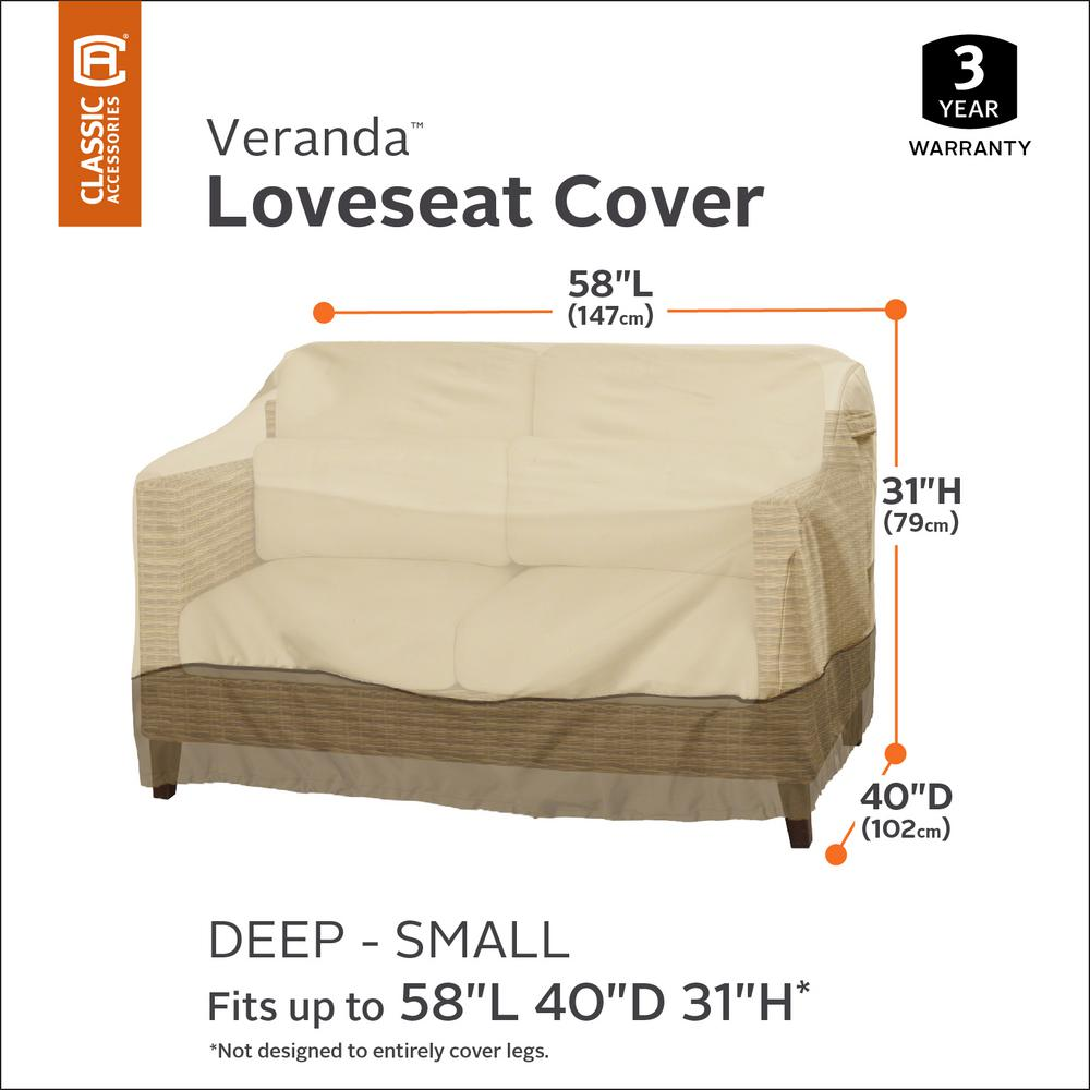 Prime Classic Accessories Veranda Small Deep Sofa Loveseat Cover Uwap Interior Chair Design Uwaporg
