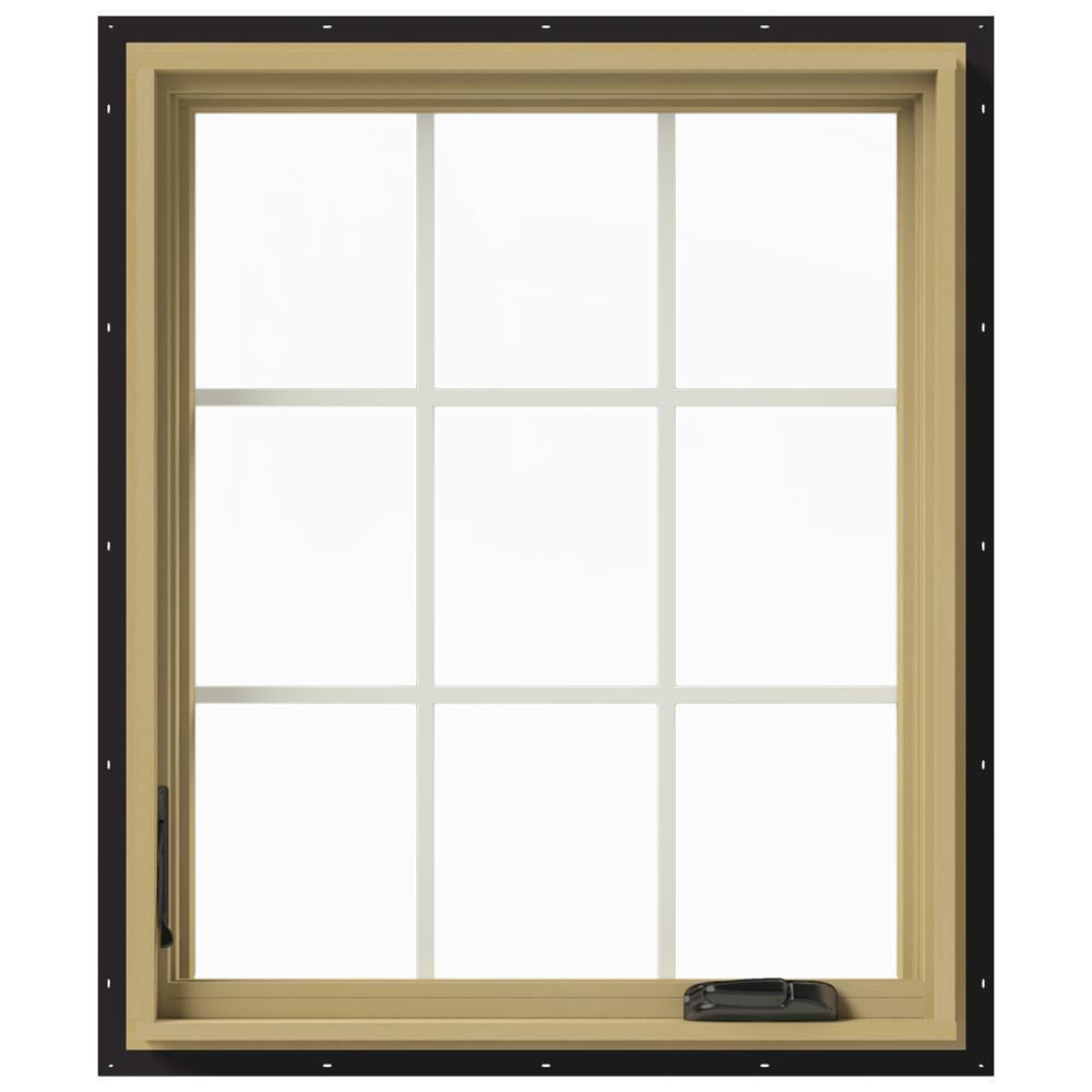30 in. x 36 in. W-2500 Left-Hand Casement Aluminum Clad Wood Window