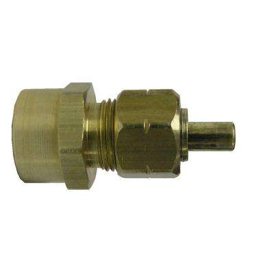3/8 in. x 1/2 in. Sweat Lead Free Compression Couplings (2-Pack)