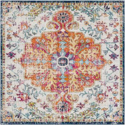 Demeter Ivory 6 ft. 7 in. Square Area Rug