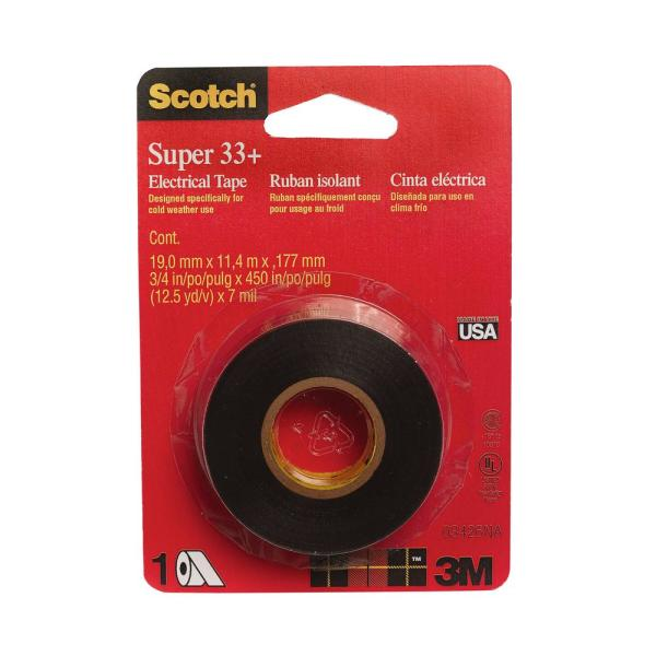 Scotch .75 in. x 37.5 ft. Electrical Tape, Black (Case of 24)
