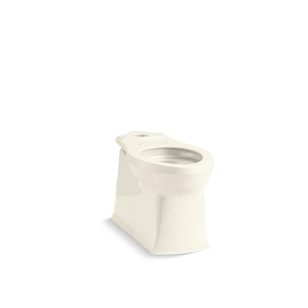 Corbelle 16.5 in. Skirted Elongated Toilet Bowl Only in Biscuit