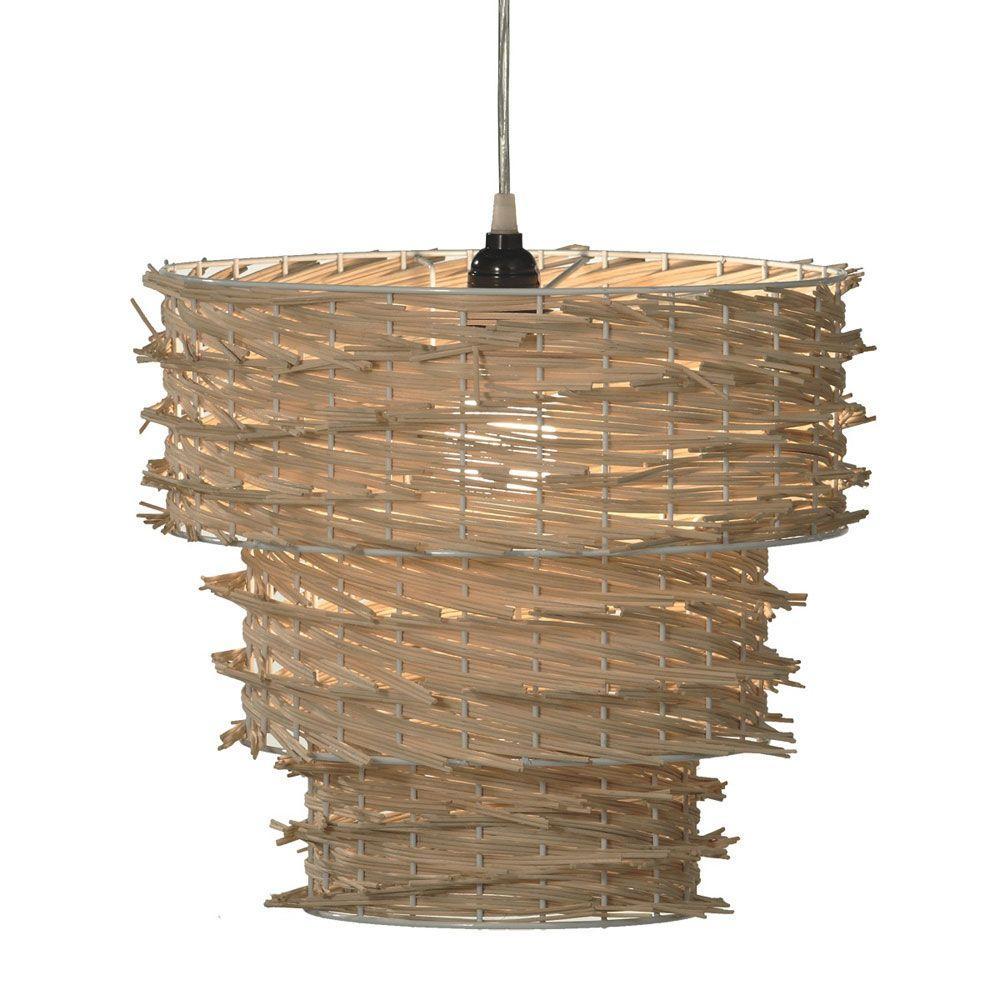 Filament Design Sundry 1-Light Tan Incandescent Pendent