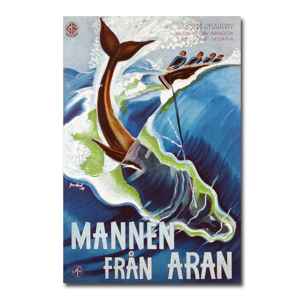 Trademark Fine Art 22 in. x 32 in. Mannen Fran Aran 1937 Canvas Art