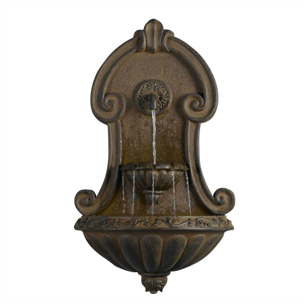 Fountain Cellar Muro Elegante Copper Finish Wall Fountain FCL036   The Home  Depot