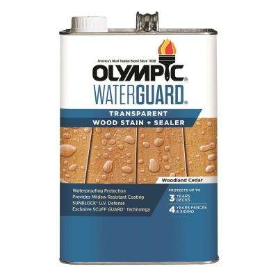 WaterGuard 1 gal. Woodland Cedar Transparent Wood Stain and Sealer