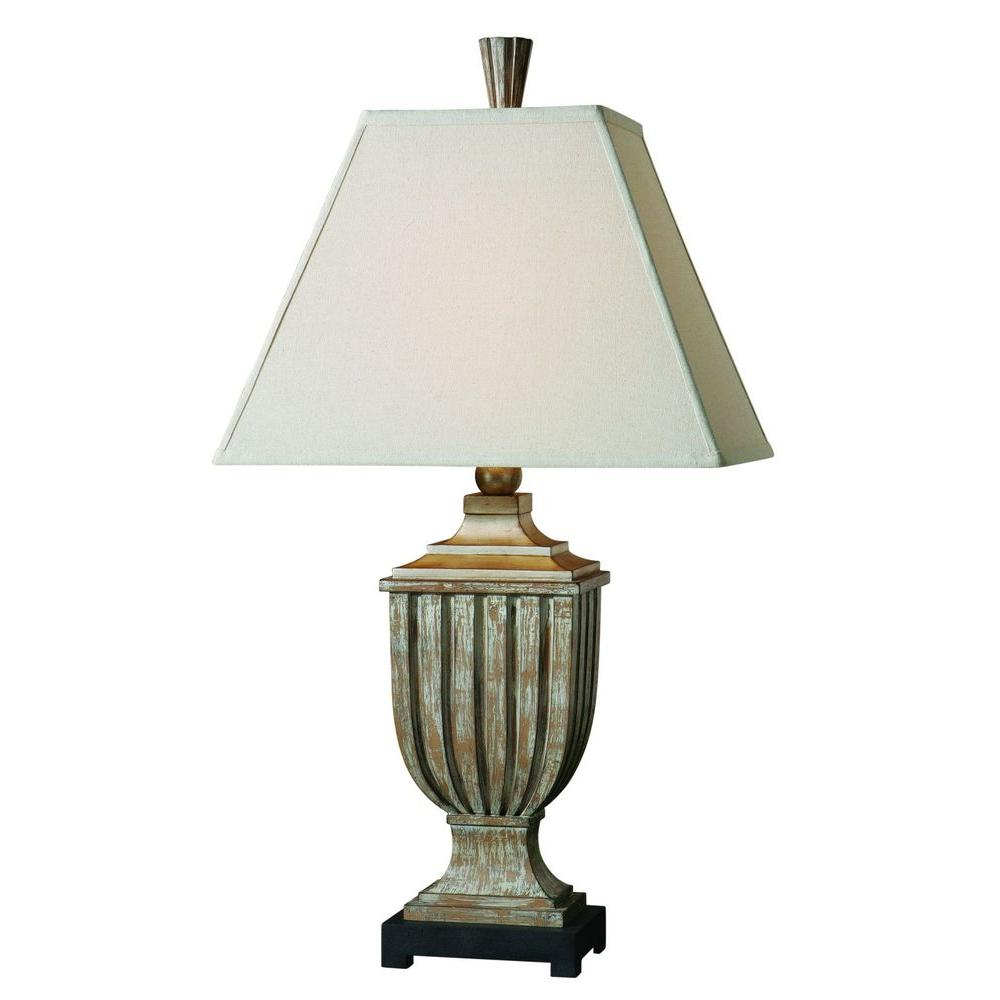 Global Direct 35 in. Aged Pecan Table Lamp