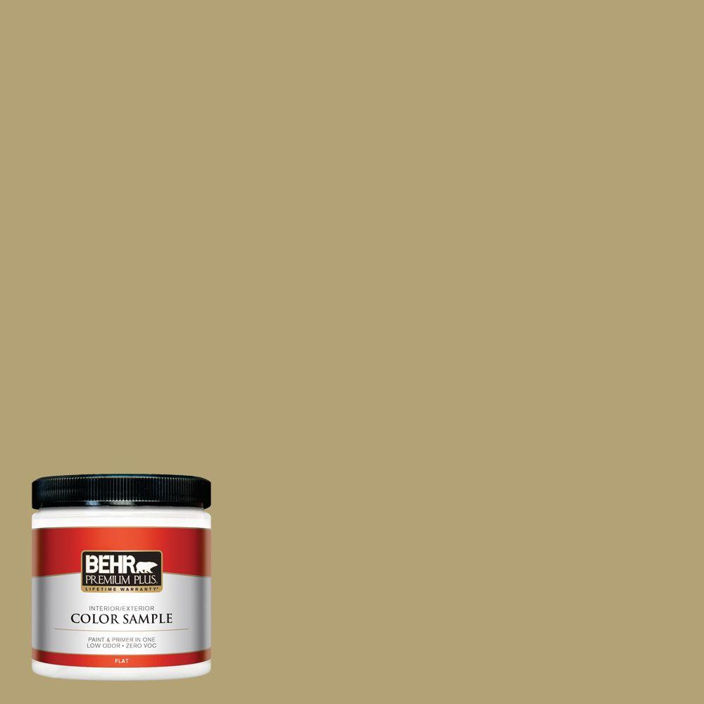 8 oz. #PMD-101 Green Fig Interior/Exterior Paint Sample