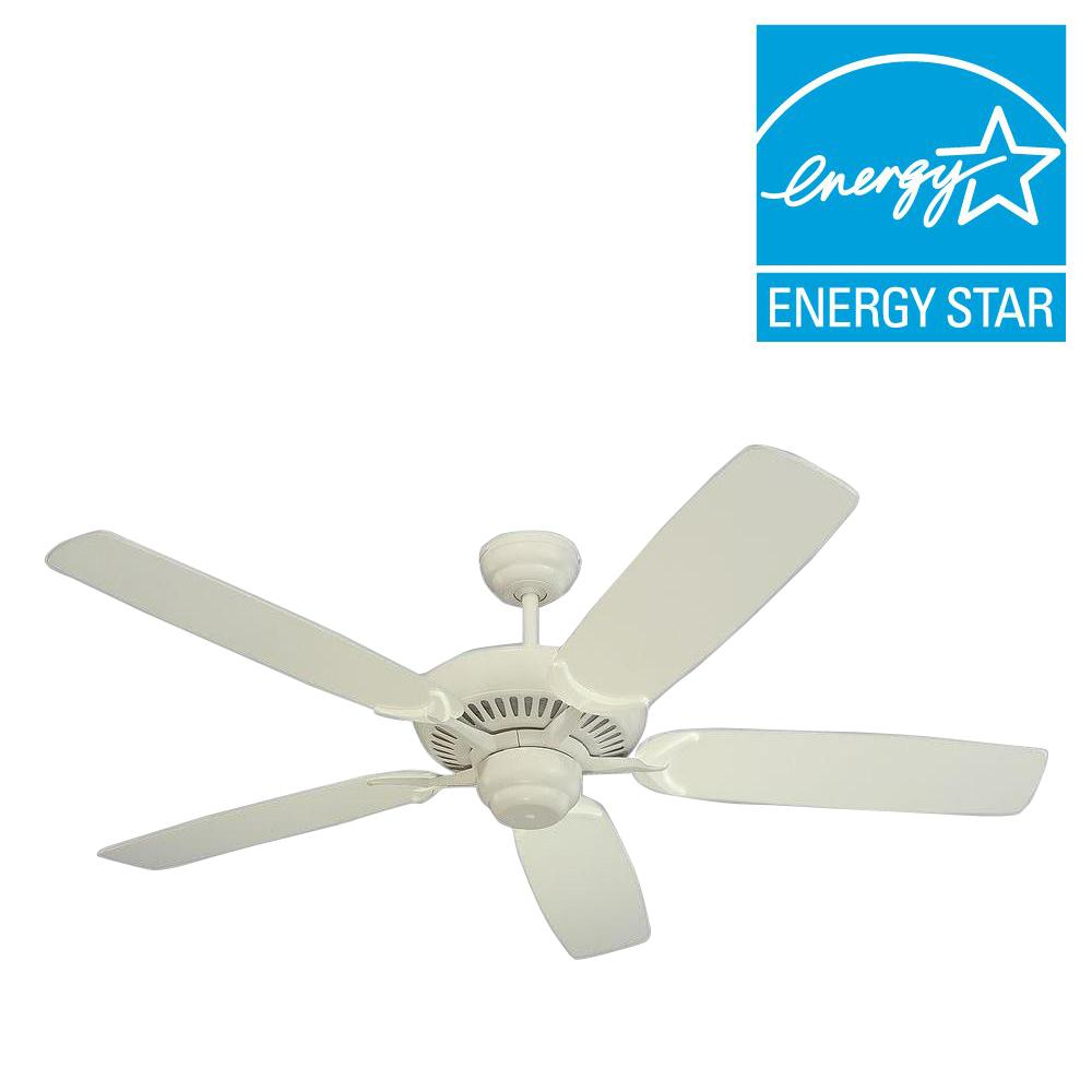 Monte Carlo Colony 52 in. White Ceiling Fan