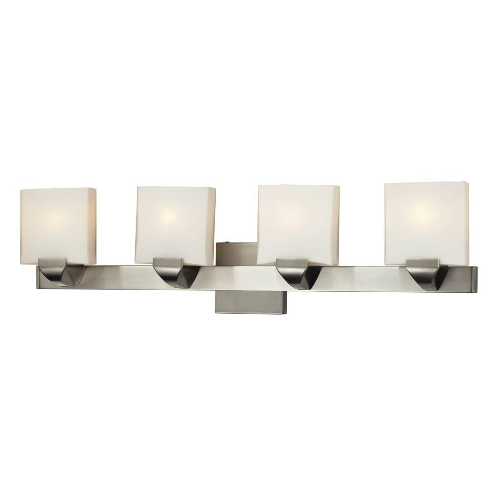 Titan Lighting 4-Light Wall Mount Satin Nickel Bathbar-DISCONTINUED