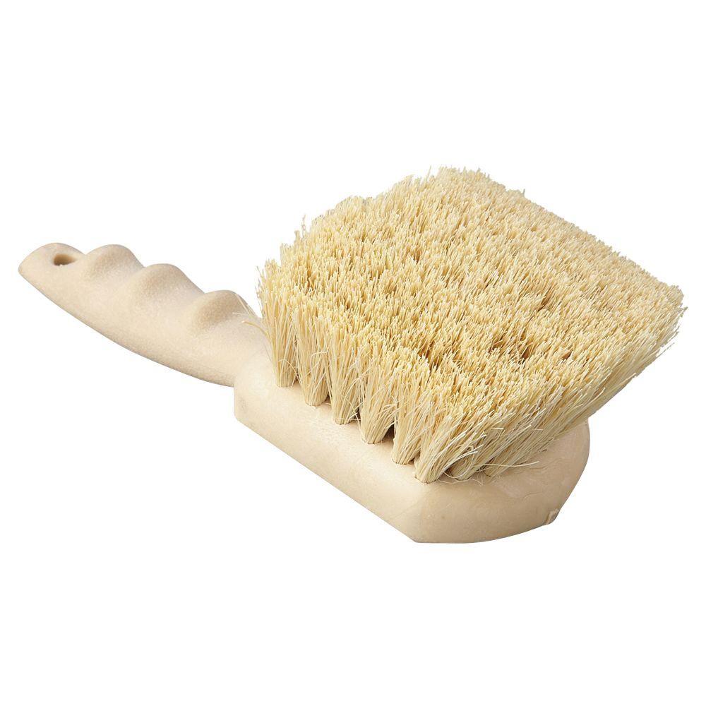 8-1/2 in. Tampico Bristle Plastic Utility Brush with Tan Handle