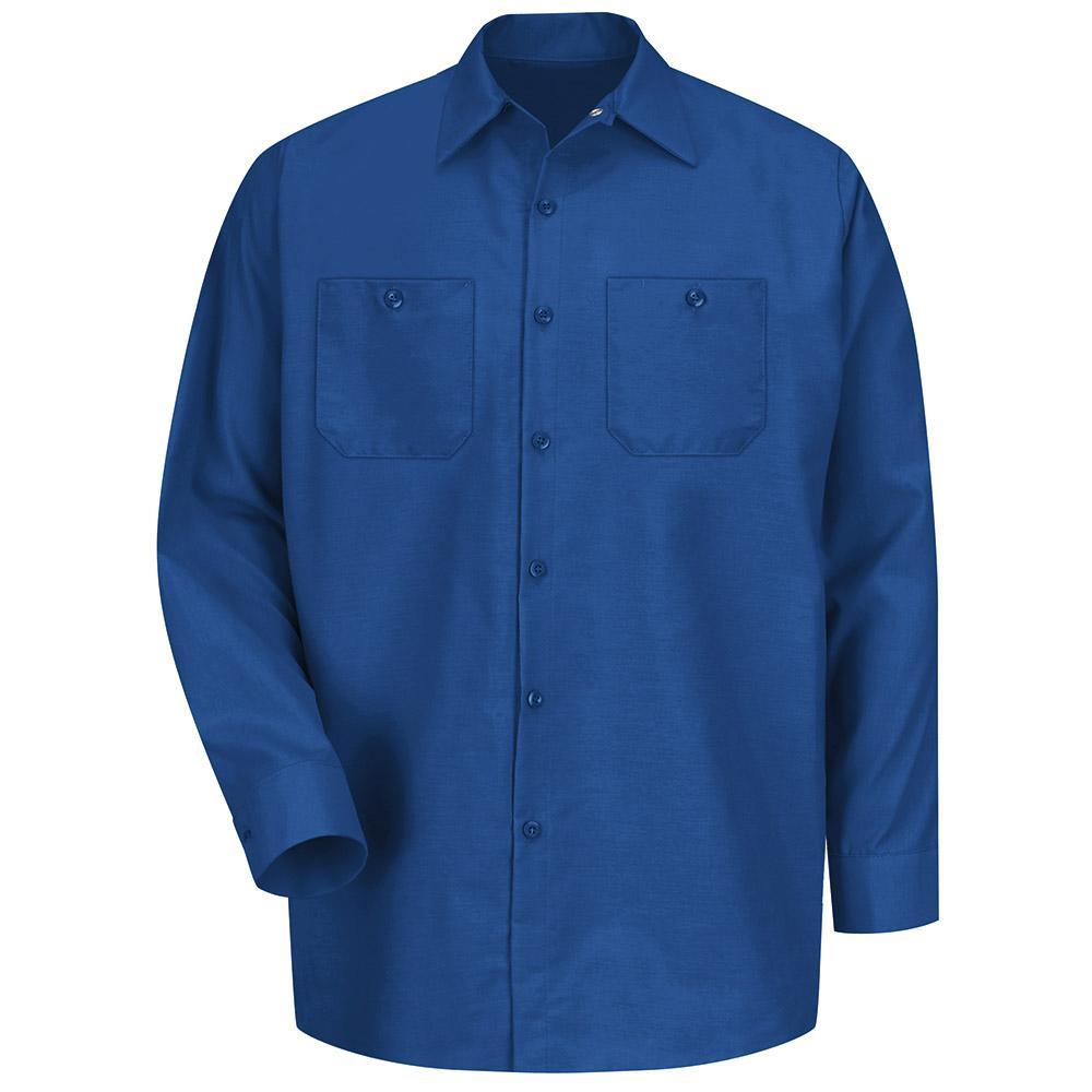 Red Kap Men S Size S Royal Blue Long Sleeve Work Shirt Sp14rb Rg S