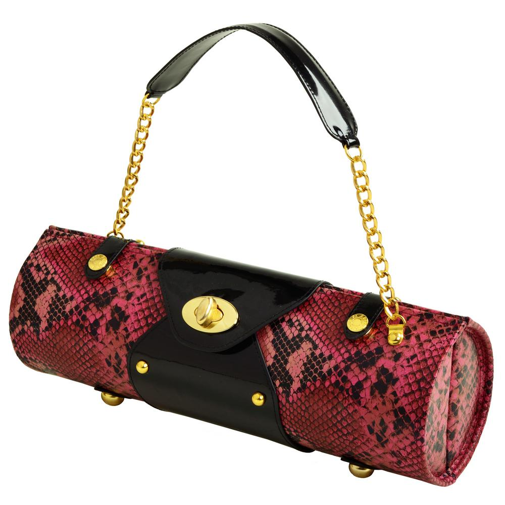 Pink Snake Wine Carrier and Purse